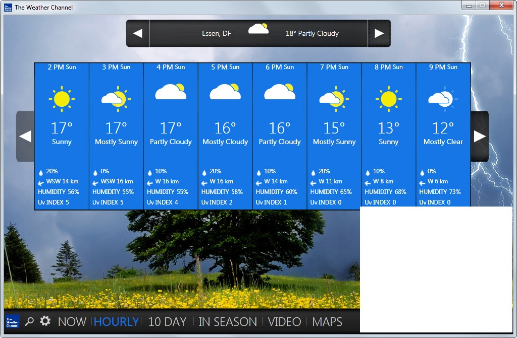 Desktop weather alert