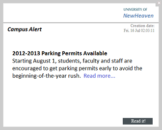 campus alert desktop internal communication