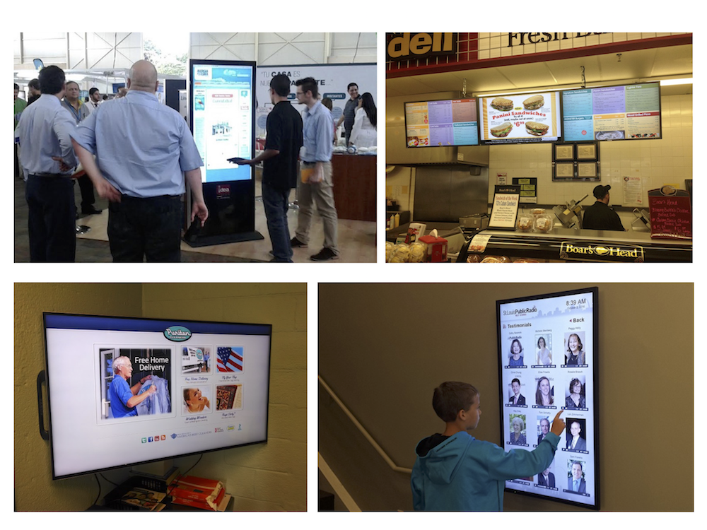 digital signage to deliver critical information