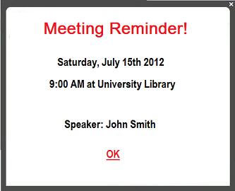 employee communication meeting reminder
