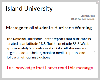 student desktop notifications