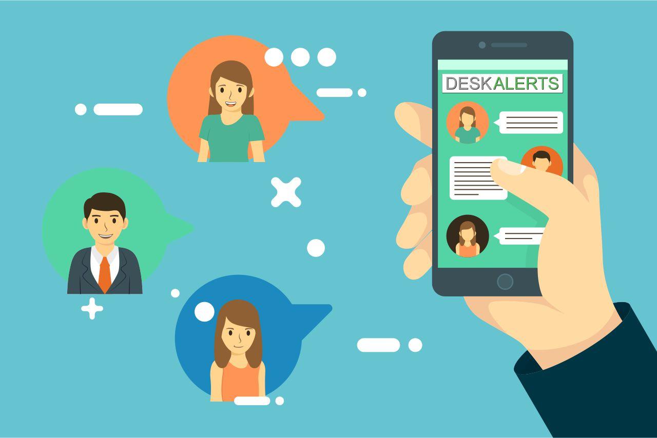 Mobile app for internal communications