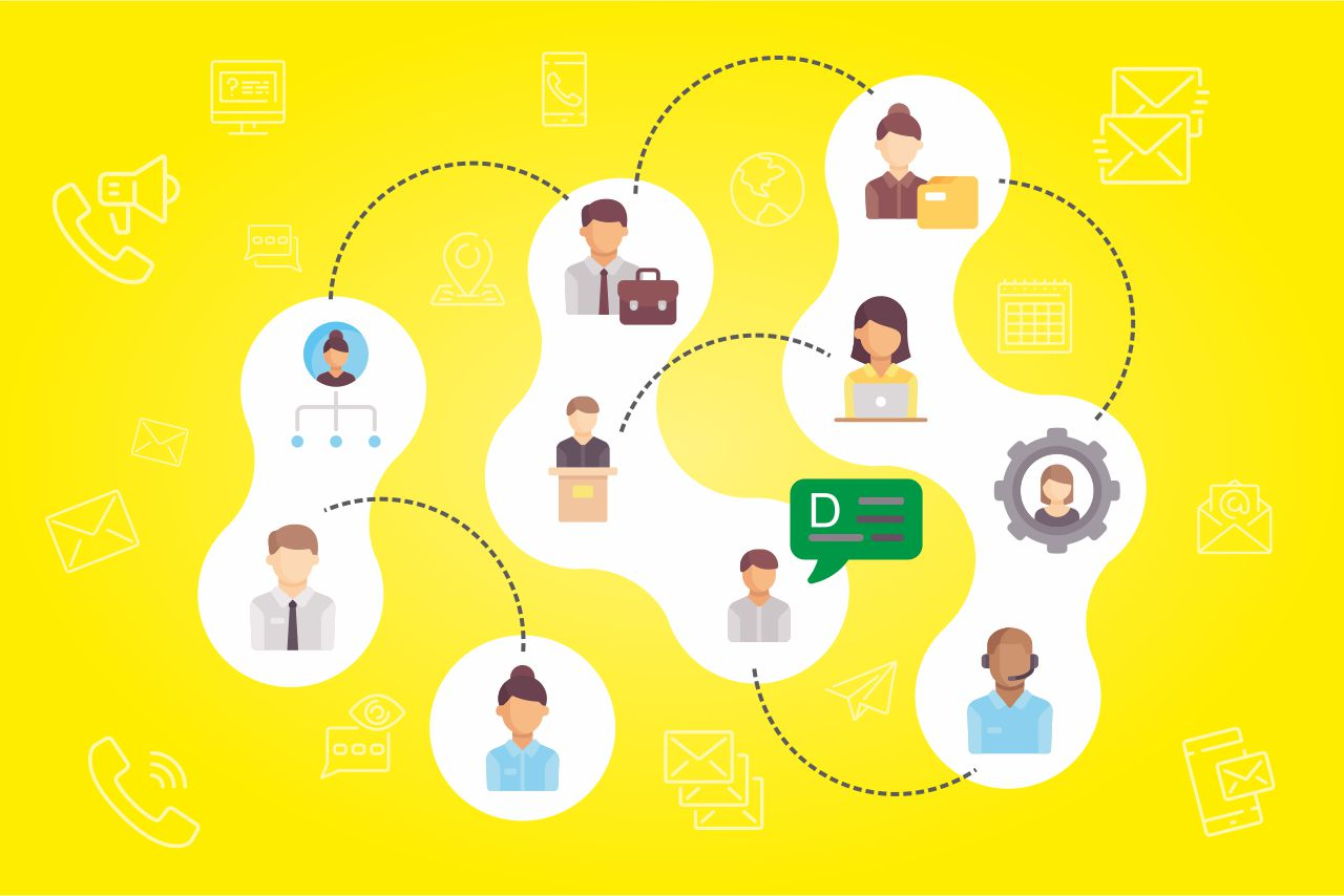 19 - How do large companies communicate internally