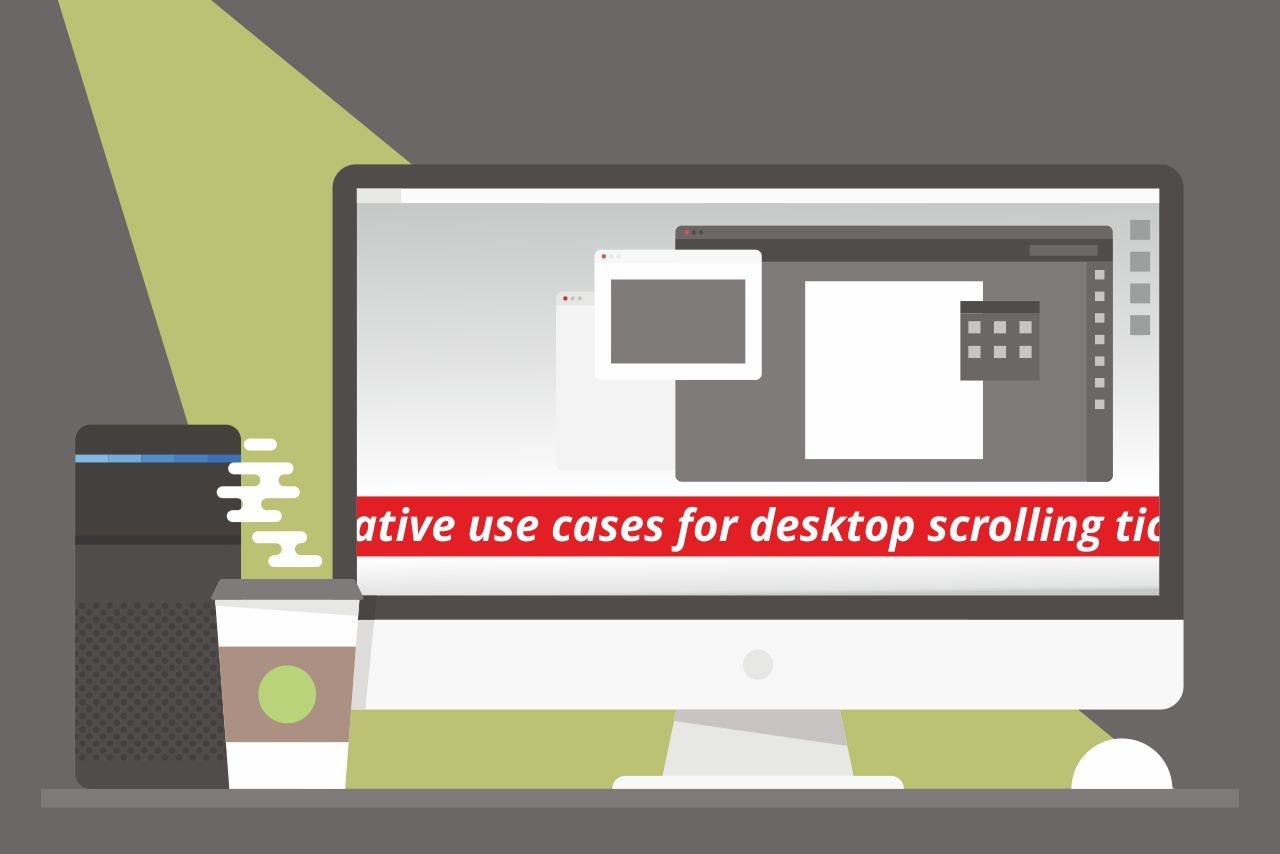 Desktop news ticker