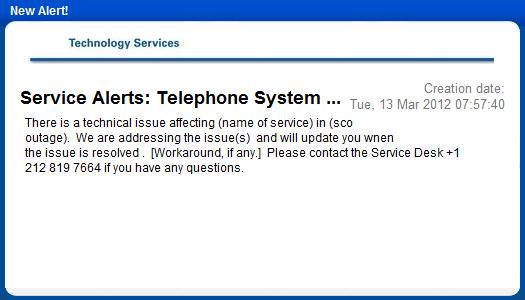 system services administration desktop notification