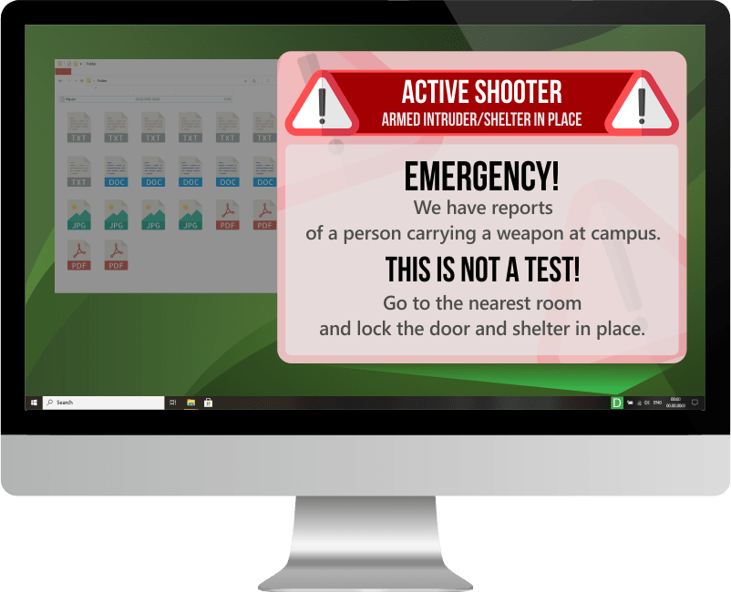 Active shooter notification system