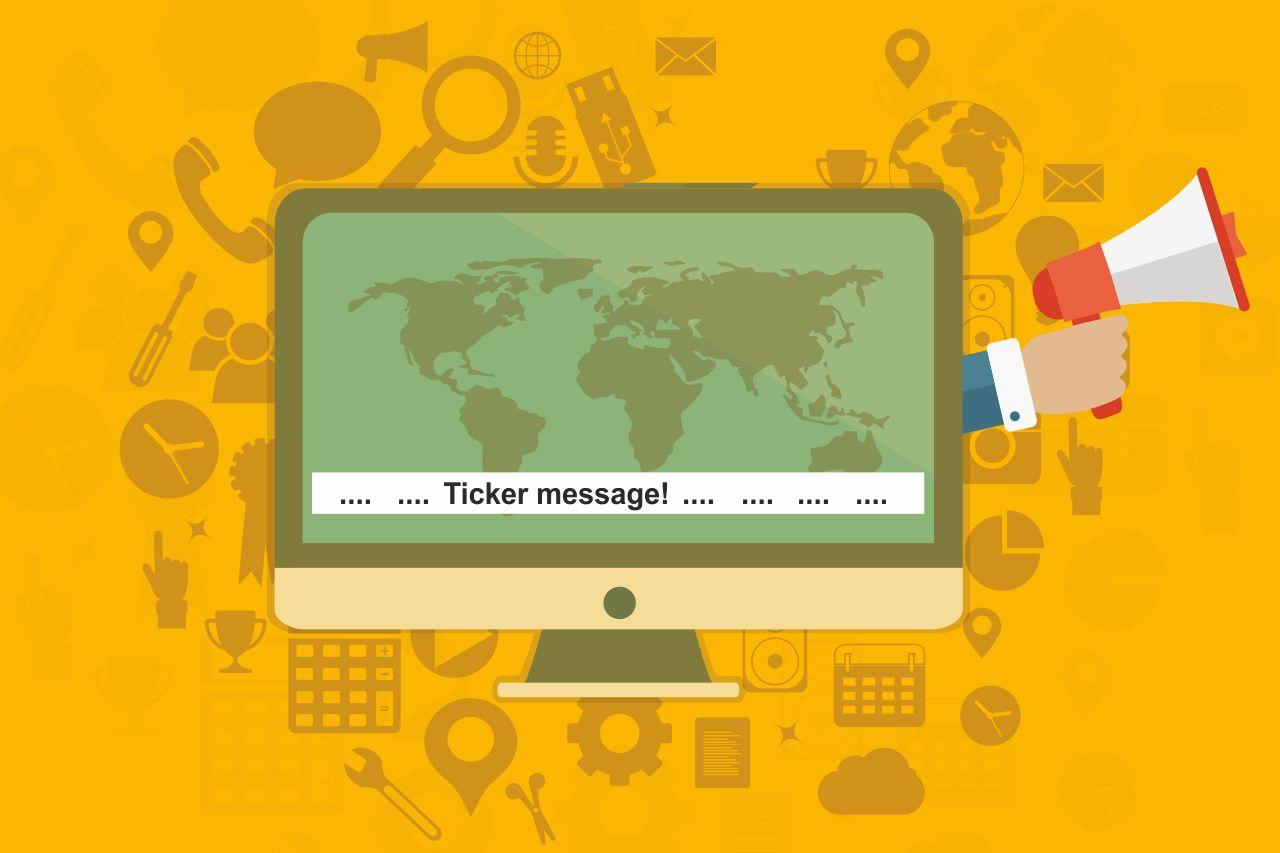 Desktop ticker notification